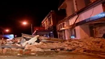 Video : Powerful quake hits New Zealand's South Island