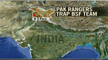 Video : BSF team trapped by Pak Rangers in J&K
