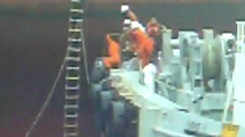 Video : Mumbai oil spill: Dramatic rescue of MSC Chitra crew