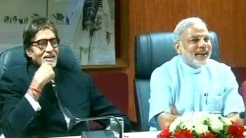 Video : Modi releases Big B's ad films