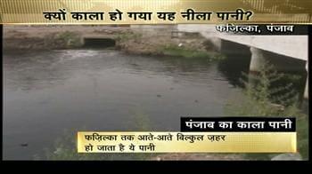 Video : काला पड़ा सतलुज का पानी