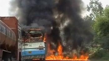 Video : Delhi-Chandigarh Highway blocked at Ambala