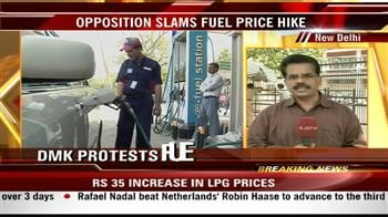 Video : Ally DMK protests against fuel price hike