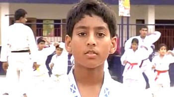 Here comes the Indian Karate Kid