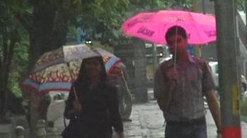 Video : Delhi's date with rain
