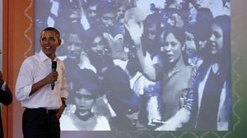 Video : Obama holds video conference with Rajasthan villagers