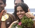 Video : Grand welcome for super Saina