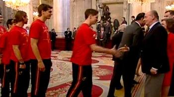 Video : World Cup winners meet Spanish royal family