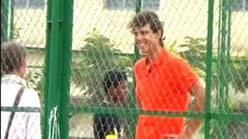 Video : Rafael Nadal in India for charity