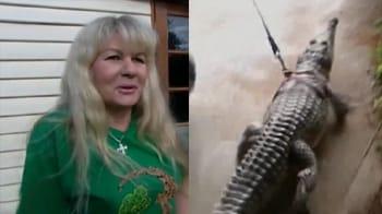 Video : Woman divorces husband for crocodile