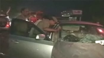 Video : Former CM's grandson hit four by BMW