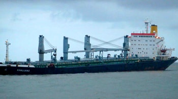 Video : Two cargo vessels collide off the coast of Mumbai
