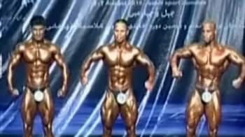 Video : Iran's bronzed bodybuilders go for gold