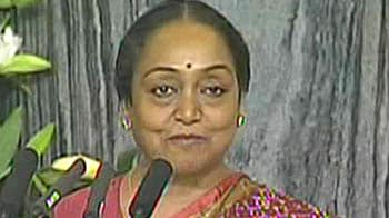 Video : Meira Kumar gives Vote of Thanks to Obama in Parliament