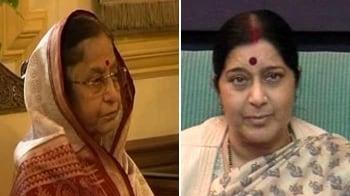 Video : BJP boycotts 'tainted' CVC, Sushma meets President