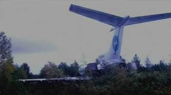 Video : Plane crashes in woods in Siberia, no injuries reported