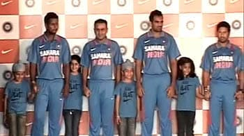 Video : Indian team to sport new jersey against Aussies