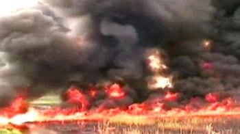 Video : हादसा टला, तेल पाइपलाइन में आग