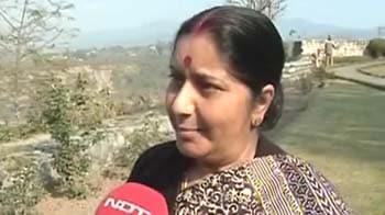 Video : BJP's Ekta Yatra: Sushma insists no turning back