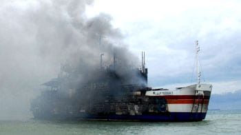 Video : Ferry on fire, more than 400 on board