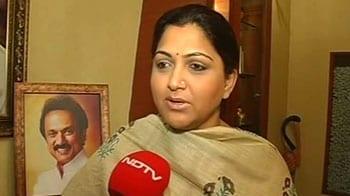 Video : I am with Kanimozhi, says Khushbu