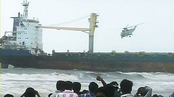 Video : 9000-ton ship near Juhu Beach needs to be moved. But how?