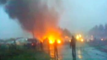 Video : Mobile phone video of Russian plane crash