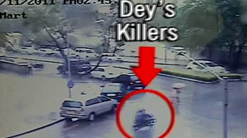 Video : Caught on camera: Bike chase before J Dey was shot