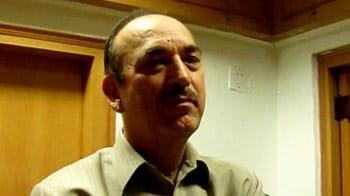 Video : Telangana: Time to discuss separate state, says Ghulam Nabi Azad
