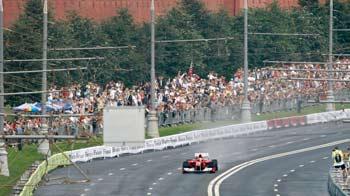 Video : F1 racing near the Kremlin