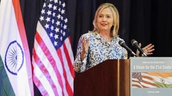 Video : US betting on India, says Hillary in Chennai