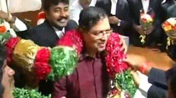 Video : Job done, Santosh Hegde retires today