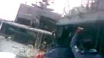 Video : Video shows celebrations on Pak warship after it hit INS Godavari