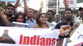 Video : Protest outside Indian Consulate in Houston
