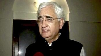 Video : No breakdown in talks: Salman Khurshid