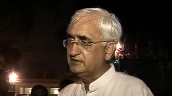 Video : Focussed on Jan Lokpal Bill: Khurshid
