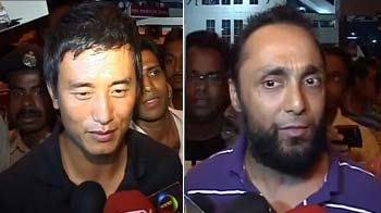 Bhaichung, Rahul Bose after the Messi match