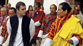 Video : Rahul Gandhi attends Bhutan royal couple's ceremonial reception