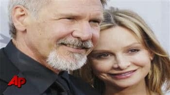 Video : Harrison Ford ties the knot with Calista Flockhart
