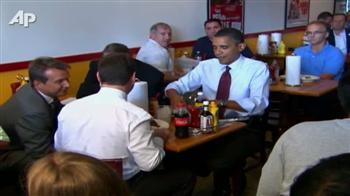 Video : Obama, Medvedev enjoy burgers together