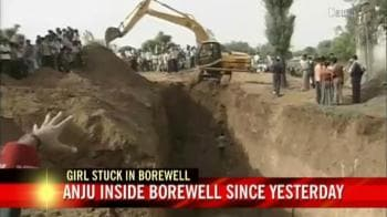 Video : Girl falls in borewell, rescue work on