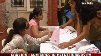 Video : Foreign languages in Delhi University