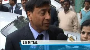 Video : LN Mittal angry over project delays