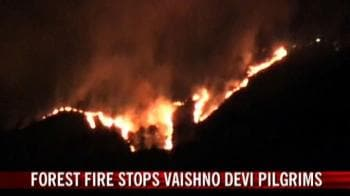 Video : Forest fire stops Vaishno Devi pilgrims