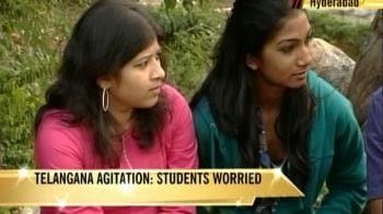 Video : Telangana agitation: Students' year at stake