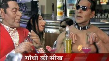 Videos : Gandhigiri lesson to Salman Khan