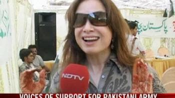 Video : Voices of support for Pakistan's army