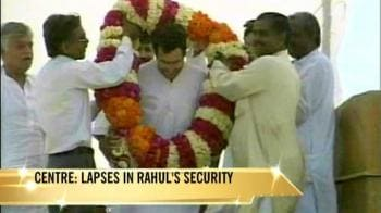 Video : Rahul's security: Centre writes to UP Chief Secy