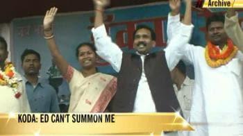 Video : Madhu Koda: ED can't summon me