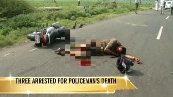 Video : 3 arrested for Tamil Nadu cop's death